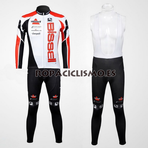 Maillot Bissell 2012 Mangas largas Tirantes