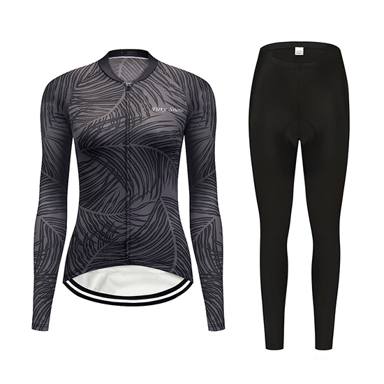 2019 Maillot Mujer Delle Tirantes Mangas Largas Gris